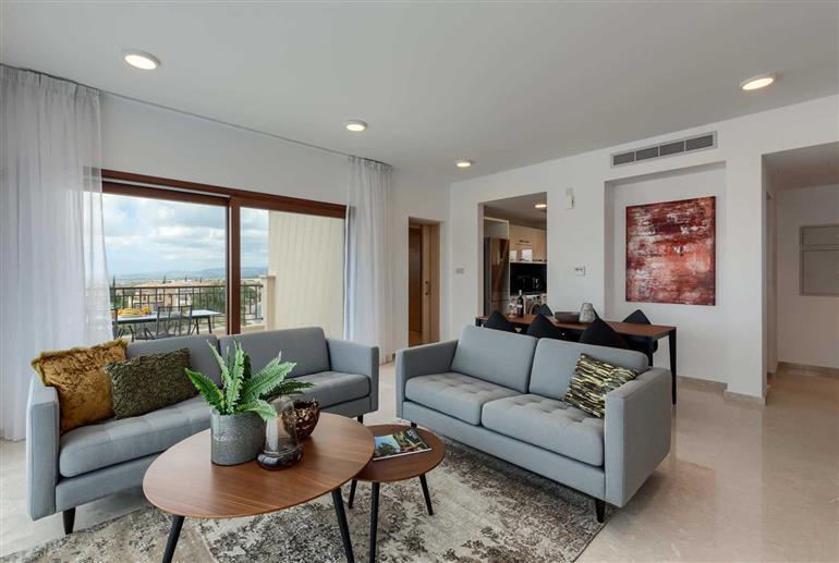 Living room in Apartment Alexander Heights Premium AL21, Aphrodite Hills