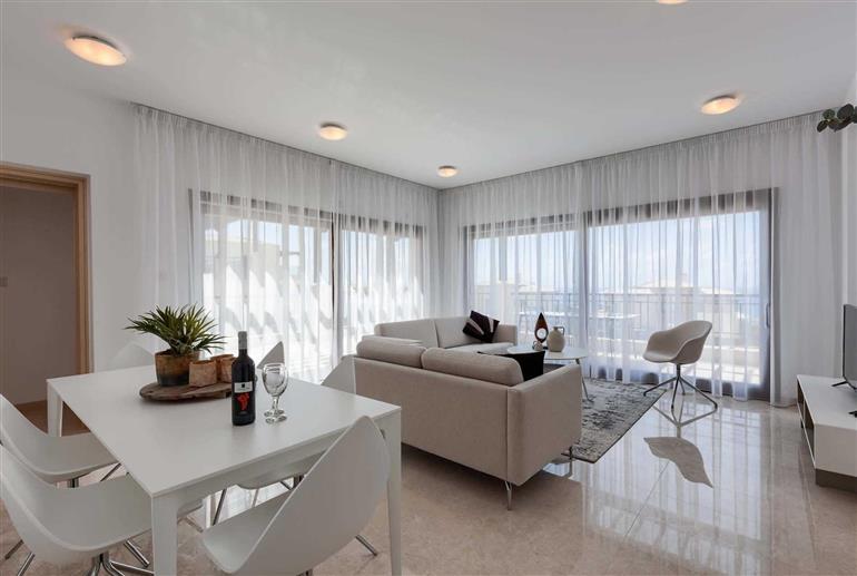 Living room in Apartment Alexander Heights Premium AL22, Aphrodite Hills