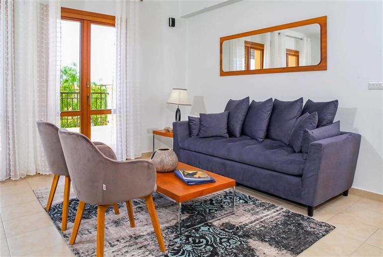 Living room in Apartment Theseus Village AA12, Aphrodite Hills