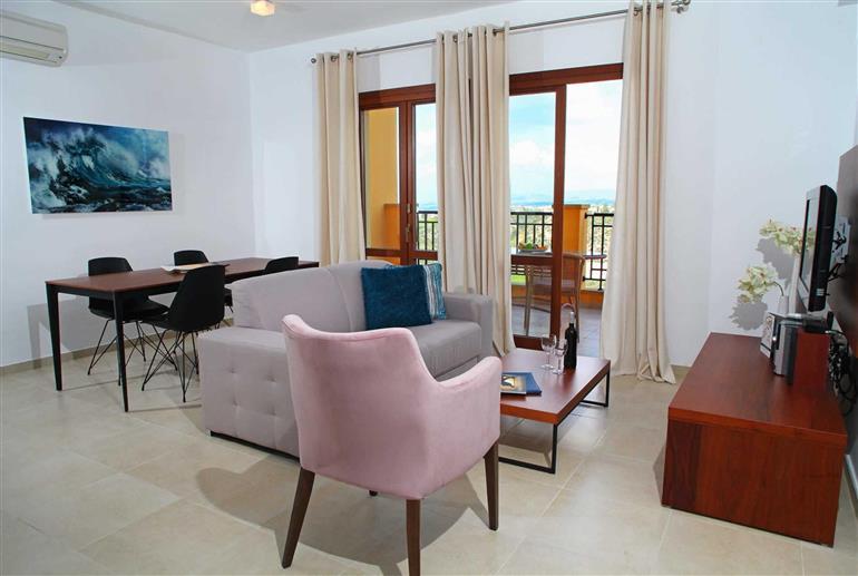 Living room in Apartment Theseus Village BI12, Aphrodite Hills