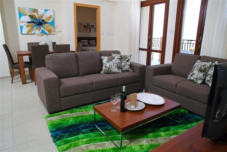 Living room in Apartment Theseus Village CE13, Aphrodite Hills