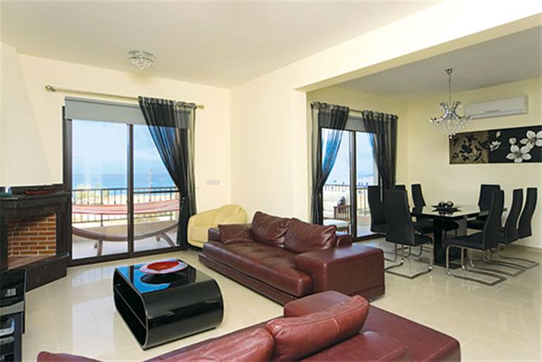 Living room in Arbanassi Villa, Latchi