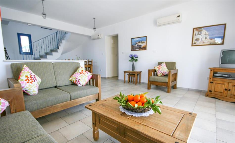 Living room in Azzurro Villas, Cyprus