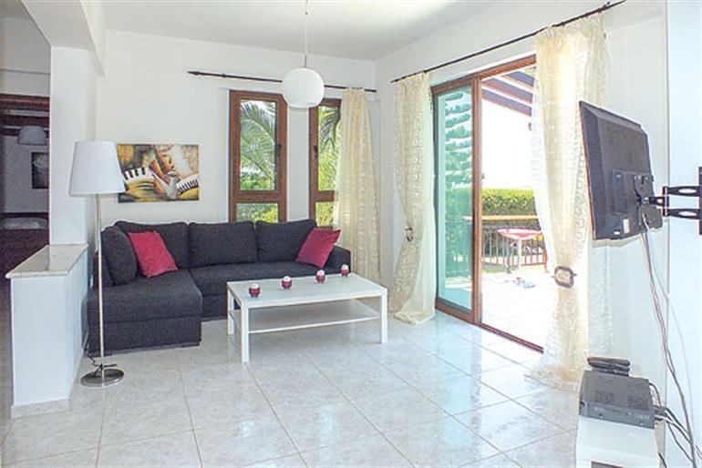 Living room in Christina Villa, Argaka