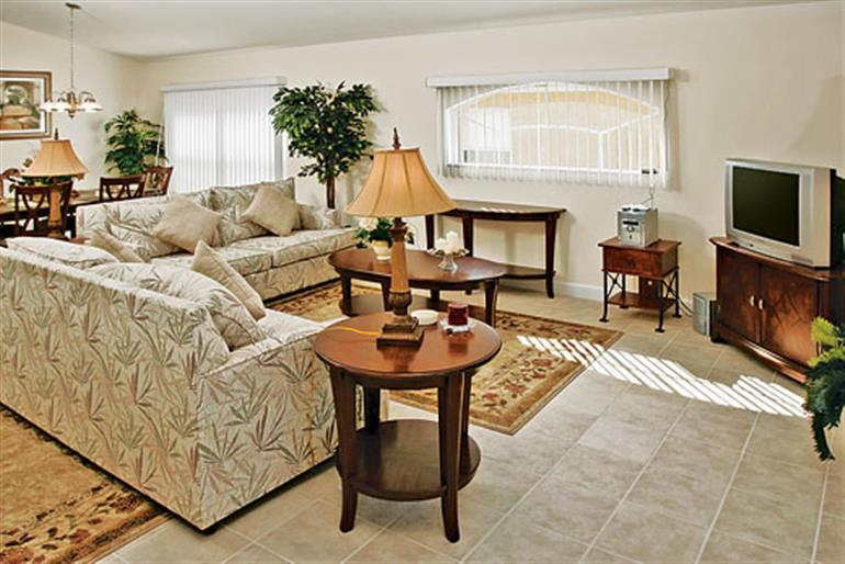 Living room in Disney Area Executive Villas ASV3PP, Disney Area and Kissimmee Orlando - Florida