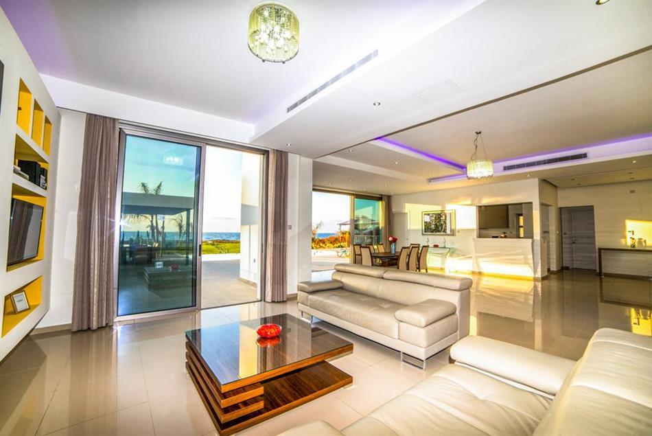 Living room in Limni Beach Villa, Cyprus