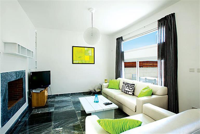 Living room in Periwinkle, Paphos