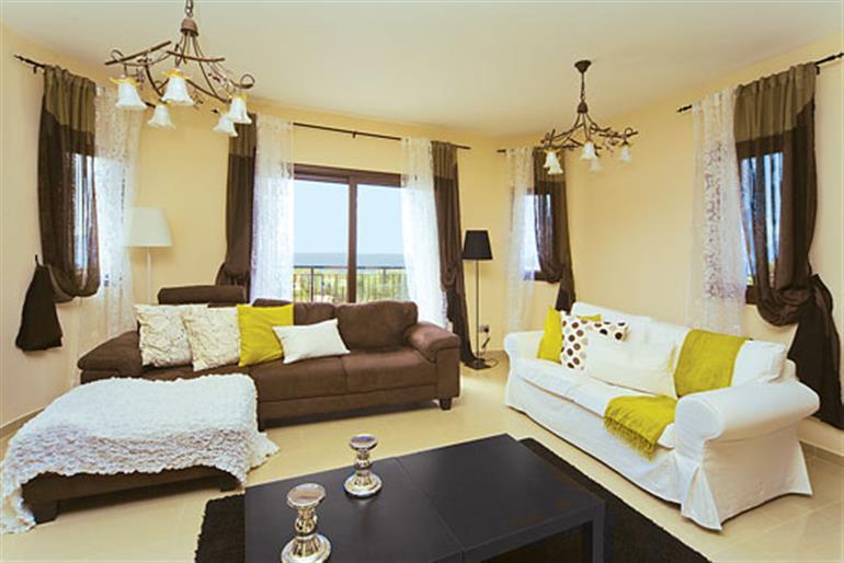 Living room in Petrides Villa, Argaka