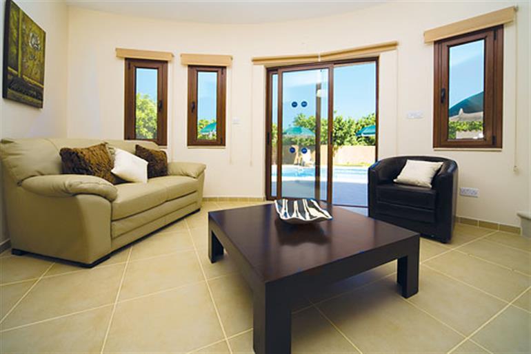 Living room in Stavros Villa, Argaka