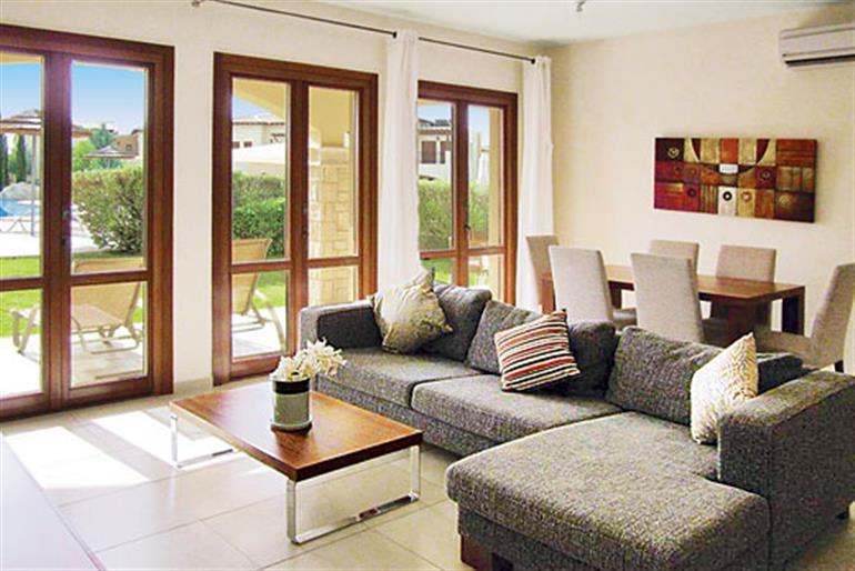 Living room in Theseus Village BC02, Aphrodite Hills