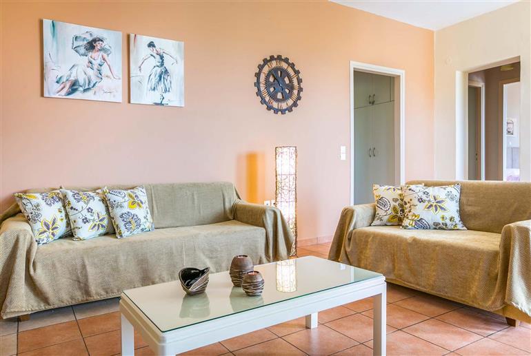 Living room in Villa Angela, Lourdas