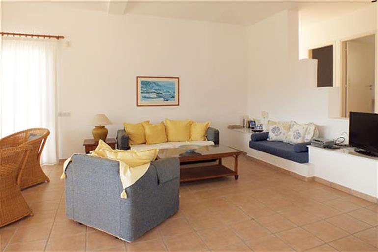 Living room in Villa Athinea, Coral Bay
