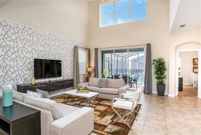 Living room in Villa Bismark Palm, Paradise Palms