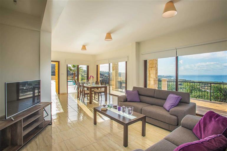Living room in Villa Blue Jadeite, Coral Bay