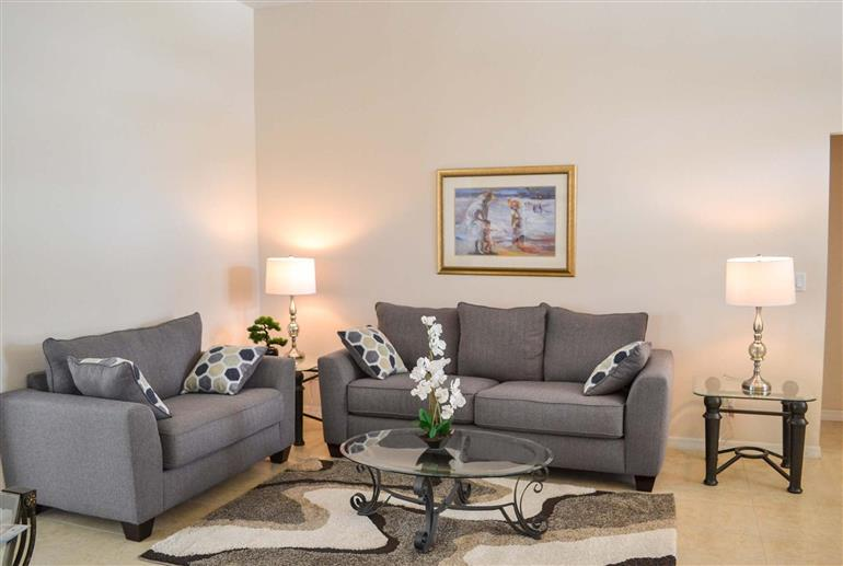 Living room in Villa Brogan, Highlands Reserve