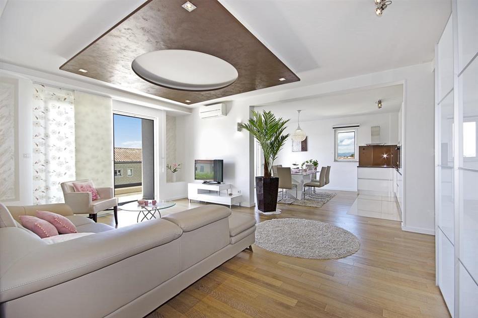 Living room in Villa Bura, Croatia