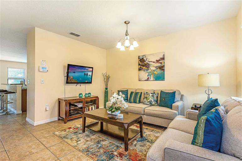Living room in Villa Buttercup, Disney Area and Kissimmee, Orlando - Florida