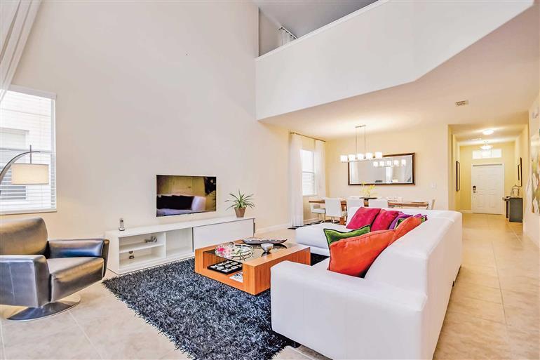 Living room in Villa Columbus, Paradise Palms, Orlando - Florida