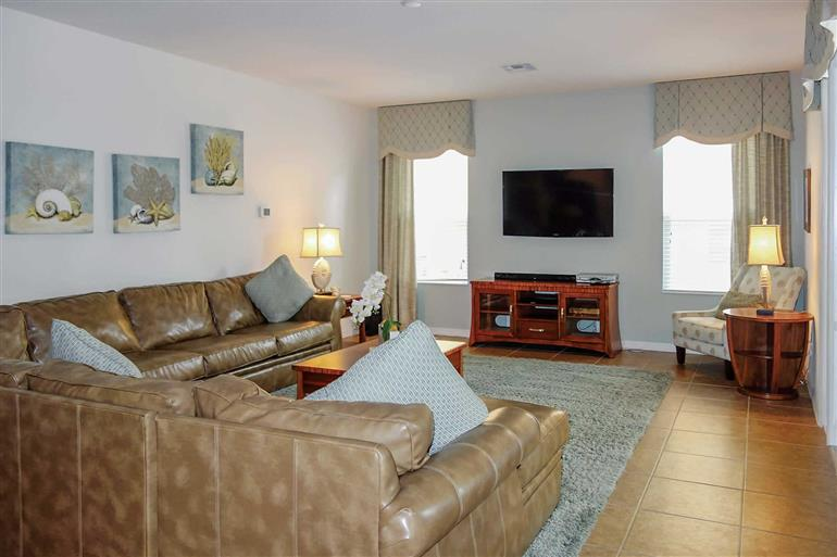 Living room in Villa Daffodil, Disney Area and Kissimmee