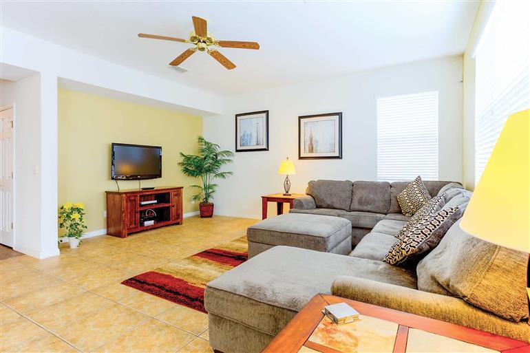 Living room in Villa Disney Retreat, Legacy Park