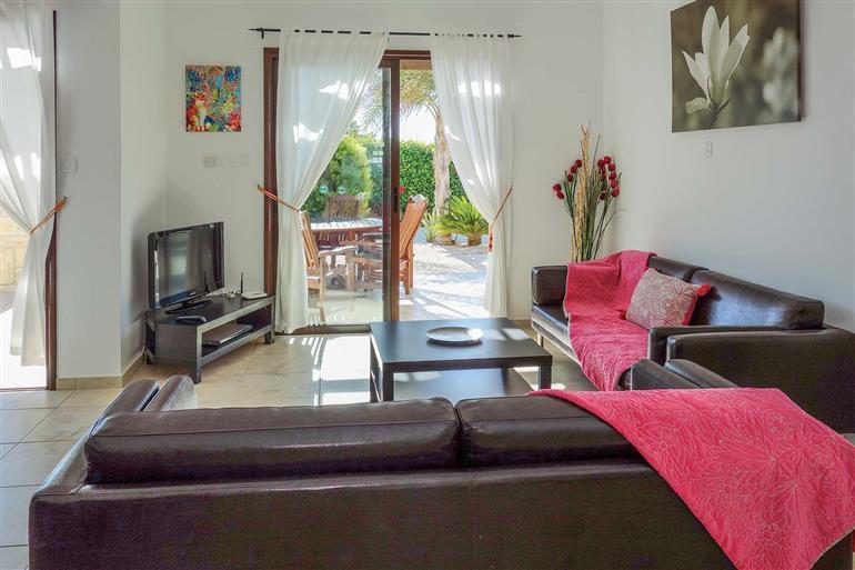 Living room in Villa Eliza, Coral Bay