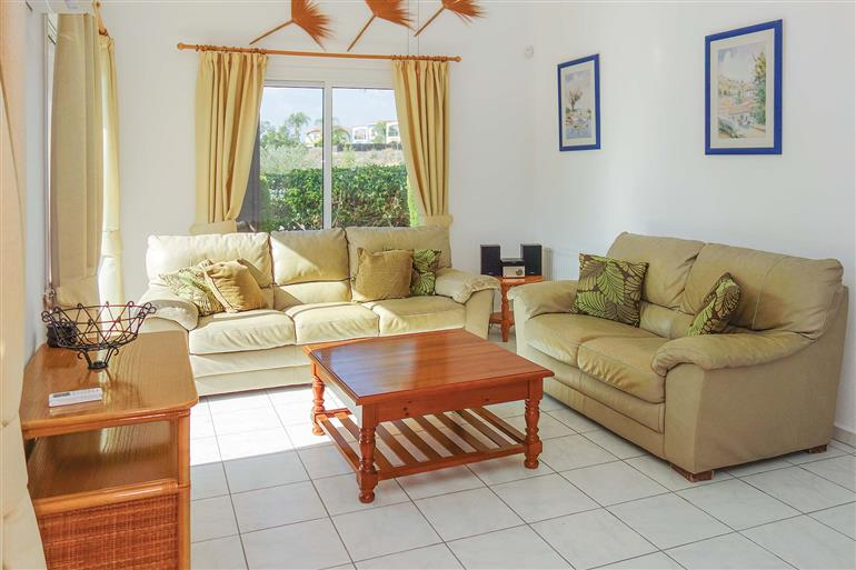 Living room in Villa Ellison, Coral Bay