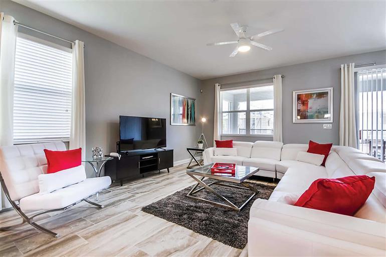 Living room in Villa Erin Hill, Champions Gate
