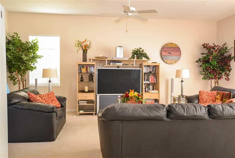 Living room in Villa Evie, Highlands Reserve
