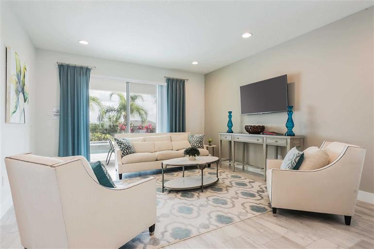 Living room in Villa Falls Drive, Encore, Orlando - Florida