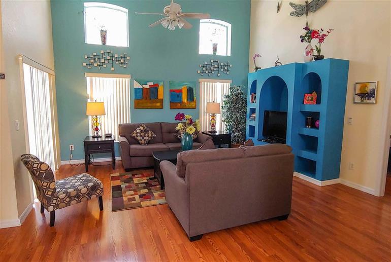 Living room in Villa Felicity, Highlands Reserve