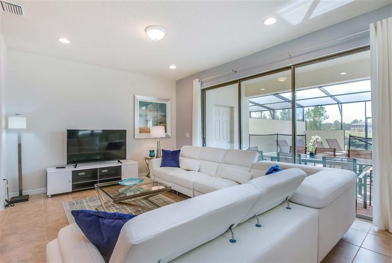 Living room in Villa Geneve Court, Windsor at Westside