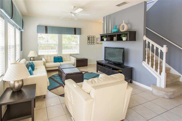 Living room in Villa Golden Dew, Encantada, Orlando - Florida