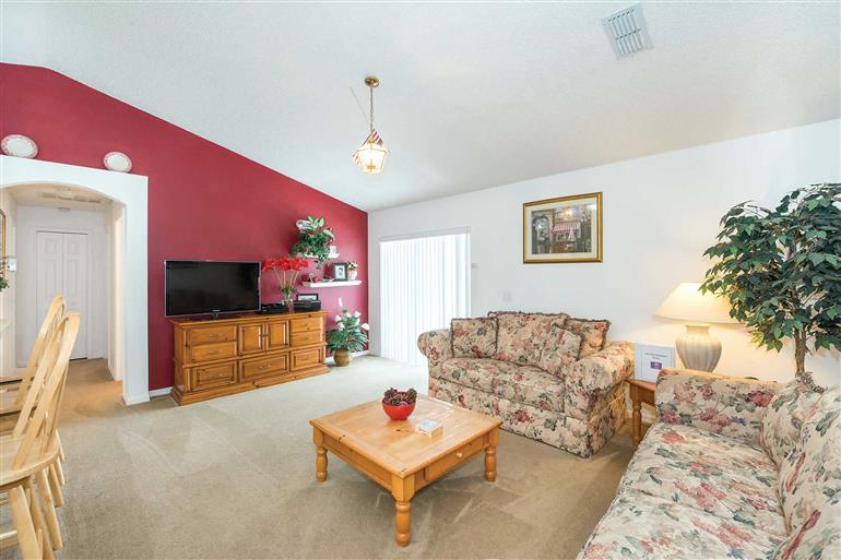 Living room in Villa Harmony Place, Disney Area and Kissimmee