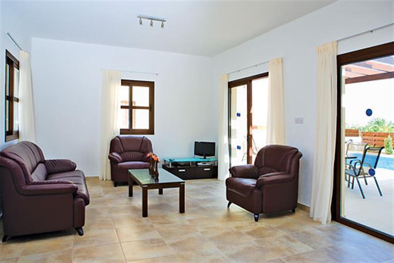 Living room in Villa Helena, Coral Bay
