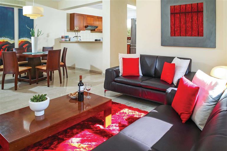 Living room in Villa Hestiades Green Junior 21, Aphrodite Hills