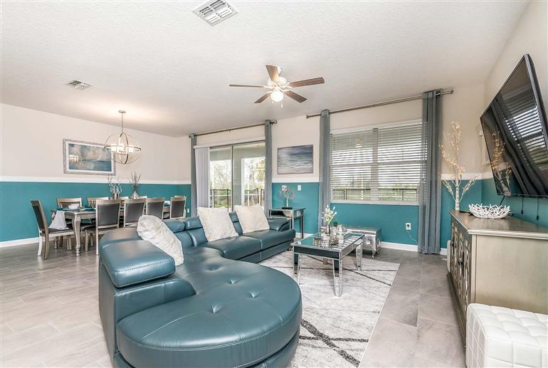 Living room in Villa Honeydew, Champions Gate