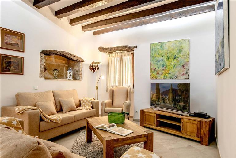 Living room in Villa Horta 55, Pollensa