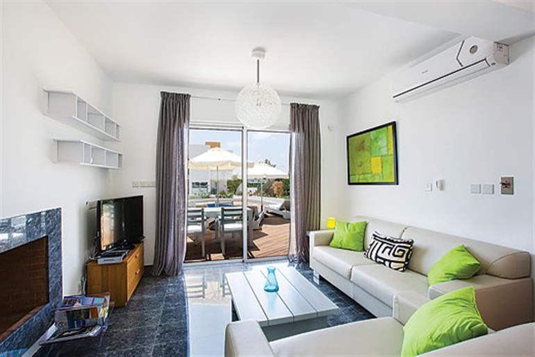 Living room in Villa Indigo, Paphos