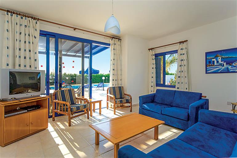 Living room in Villa Ino, Resorts in Cyprus