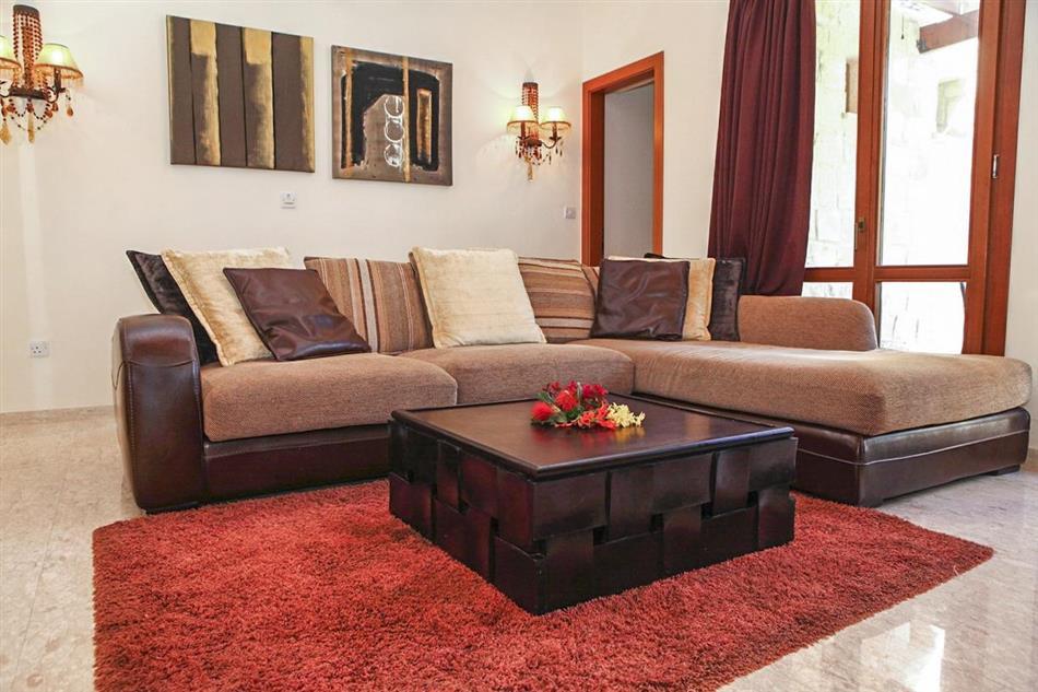 Living room in Villa Iris, Cyprus