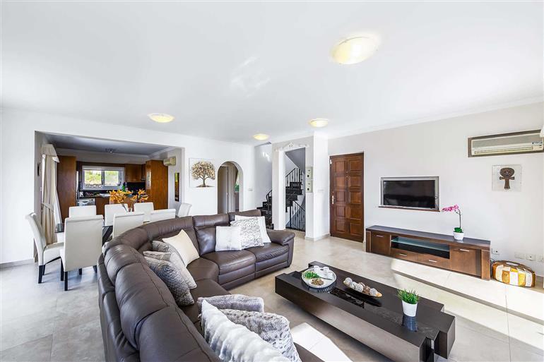 Living room in Villa Joanna, Coral Bay, Cyprus