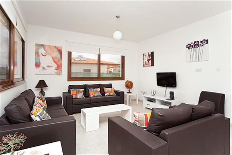 Living room in Villa Joulia, Coral Bay Joulia,, Cyprus