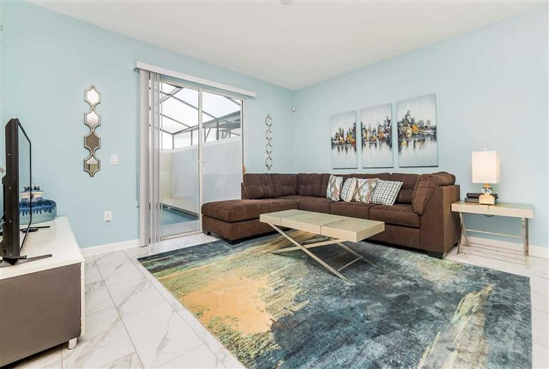 Living room in Villa Juliet, Storey Lakes, Orlando - Florida