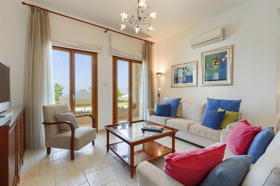Living room in Villa Kaia, Cyprus