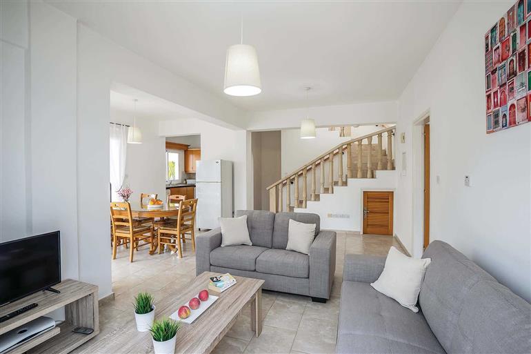 Living room in Villa Kiriaki, Coral Bay