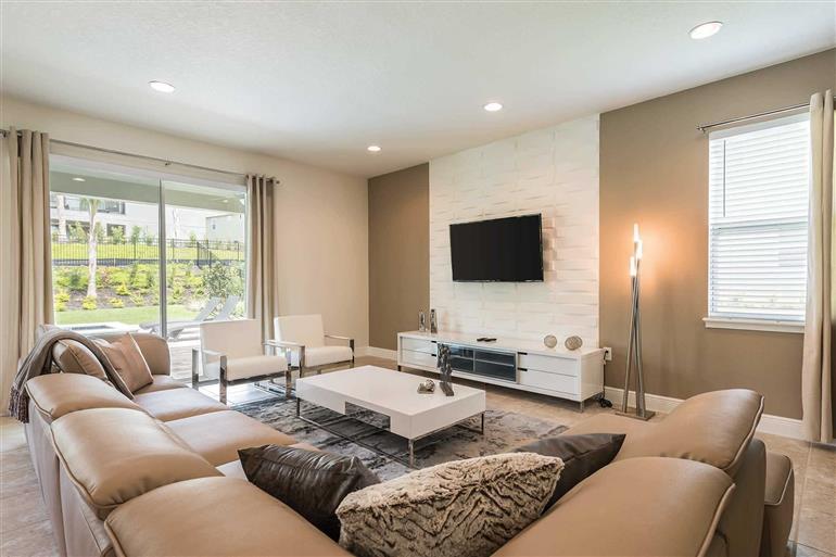 Living room in Villa Liberty, Encore, Orlando - Florida