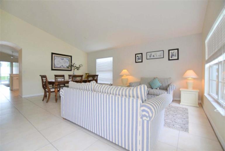 Living room in Villa Lilac, Highlands Reserve
