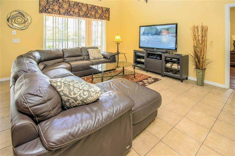 Living room in Villa Madeira Beach, Terra Verde, Orlando - Florida