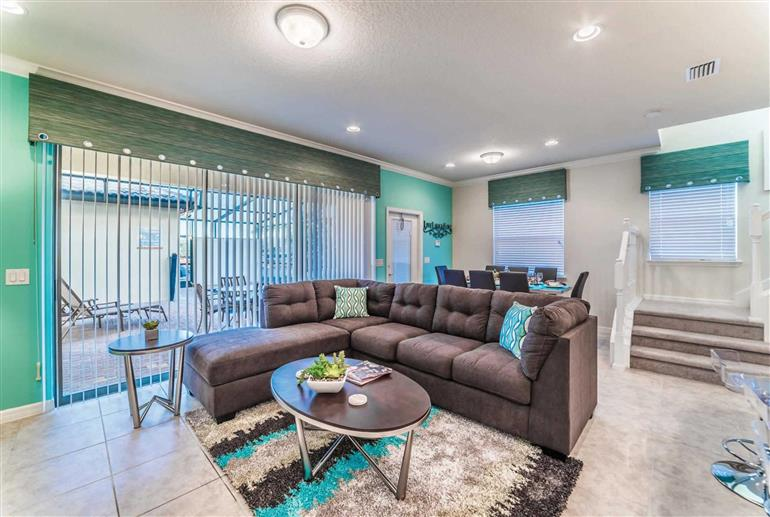 Living room in Villa Majorca Drive, Windsor at Westside
