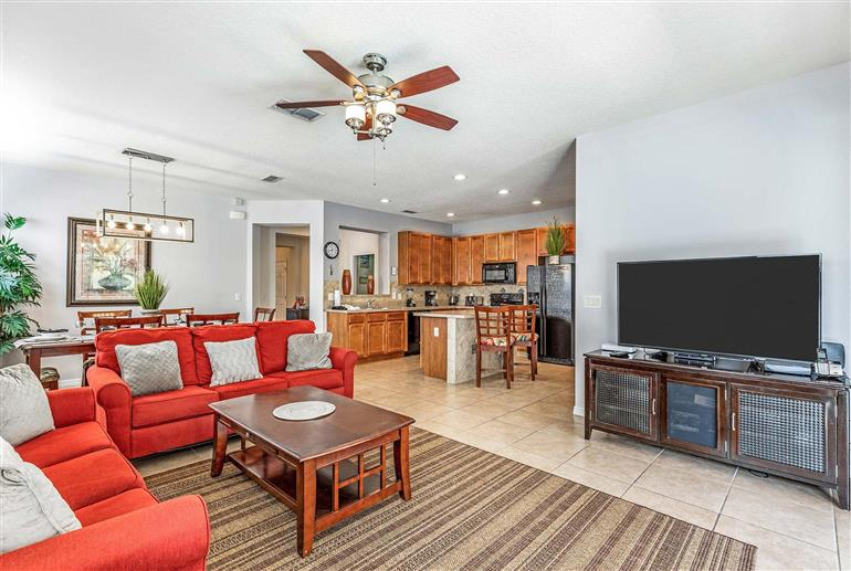 Living room in Villa Marcello Blvd, Disney Area and Kissimmee